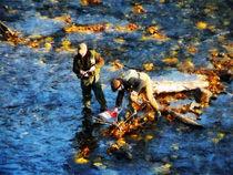 Two Men Fishing by Susan Savad