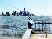 Two Fishing Poles by Susan Savad