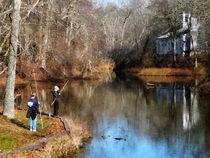 Two Boys Fishing by Susan Savad