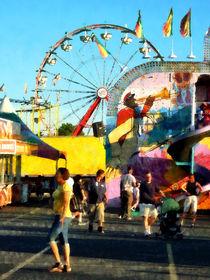 Ferris Wheel in Distance by Susan Savad