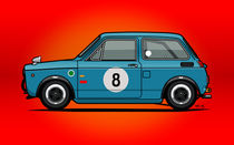 Honda N600 Blue Kei Race Car by monkeycrisisonmars