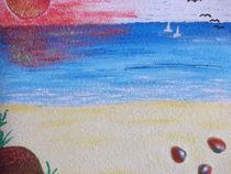 Allein am Strand by Peggy Gennrich