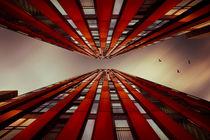Gebäude in Rot von Stefan Kierek