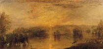 The Lake, Petworth: Sunset, a Stag Drinking by Joseph Mallord William Turner