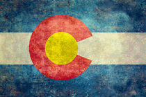 Flag of Colorado - retro style vintage von Bruce Stanfield