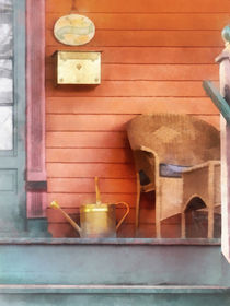 Porch With Brass Watering Can von Susan Savad