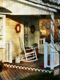 Rocking Chair on Side Porch by Susan Savad