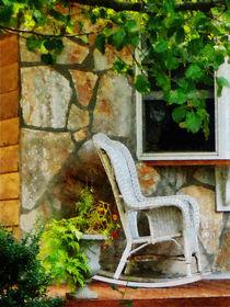 Wicker Rocking Chair on Porch von Susan Savad