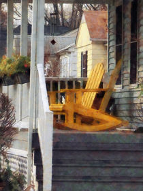 Yellow Adirondack Rocking Chairs von Susan Savad