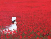 Being a Woman - #2 In a field of poppies von Kume Bryant
