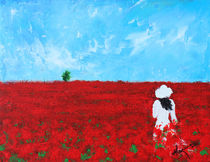 Being a Woman - #4 In a field of poppies von Kume Bryant