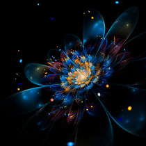 Blüte in Blue - by Viktor Peschel