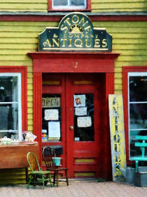 Antique Shop With Two Chairs by Susan Savad