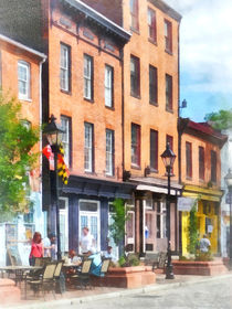 Baltimore MD - Fells Point Street by Susan Savad
