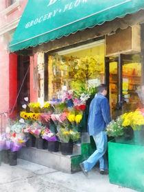 Hoboken NJ - Neighborhood Flower Shop by Susan Savad
