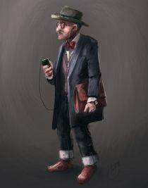 Old hipster man by Renato Klieger Gennari