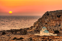 The sunset in Finiki of Karpathos, Greece by Constantinos Iliopoulos