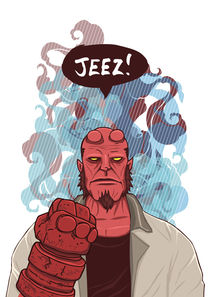 Jeez! Hellboy by Geo Law