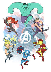 Avengers Assemble von Geo Law