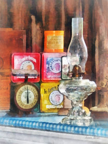 Hurricane Lamp and Scale by Susan Savad