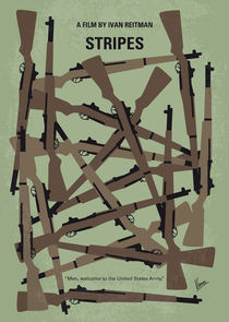 No542 My Stripes minimal movie poster von chungkong
