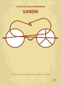 No543 My Gandhi minimal movie poster von chungkong