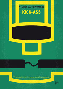 No544 My Kick-Ass minimal movie poster by chungkong
