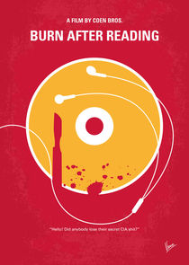 No547 My Burn After Reading minimal movie poster by chungkong