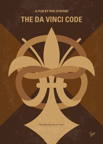 No548 My Da Vinci Code minimal movie poster von chungkong
