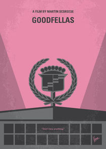No549 My Goodfellas minimal movie poster von chungkong