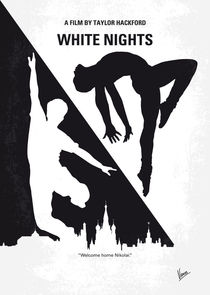 No554 My White Nights minimal movie poster von chungkong