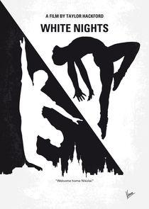 No554 My White Nights minimal movie poster by chungkong