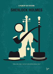 No555 My Sherlock Holmes minimal movie poster by chungkong
