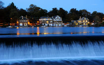 Philadelphia Boathouse Row At Twilight by Gary Whitton