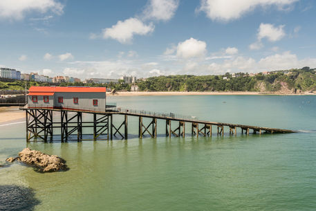 Old-lifeboat-station-and-noth-beach-tenby