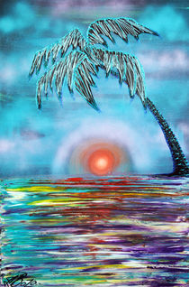 Tropical Sunset by Laura Barbosa