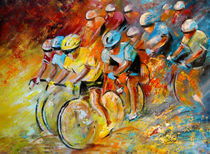 Winning The Tour De France von Miki de Goodaboom
