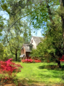 Spring - Suburban House With Azaleas von Susan Savad