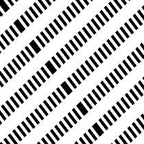 Muster schwarz weiß Nr. 1 by Christine Bässler