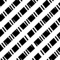 Muster schwarz weiß Nr. 3 von Christine Bässler