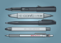 Pro Graphic Design Pens (Blue) by monkeycrisisonmars