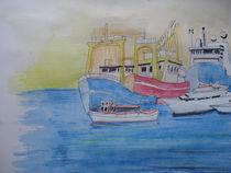 'Fischereihafen in Dänemark' by Gerhard Stolpa