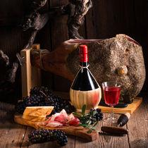 Wine and prosciutto von dar1930