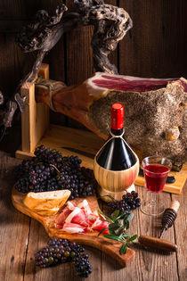 Wine and prosciutto by dar1930