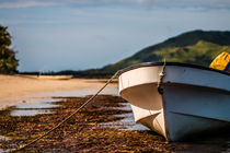 Boat laying on the beach by Belinda Philipp