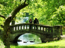 Couple on Bridge in Park von Susan Savad