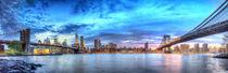 New York Panorama der Brooklyn- und Manhattanbridge von ny