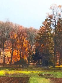 Autumn Farm With Harrow von Susan Savad