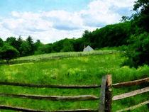 Field Near Weathered Barn by Susan Savad