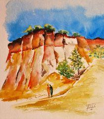 Ockerfelsen von Rustrel, Colorado by Theodor Fischer